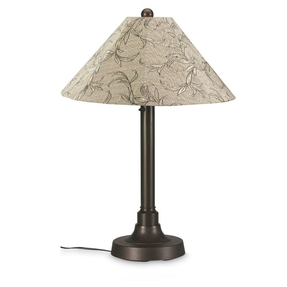 San Juan 34 in. Outdoor Bronze Table Lamp with Bessemer Shade