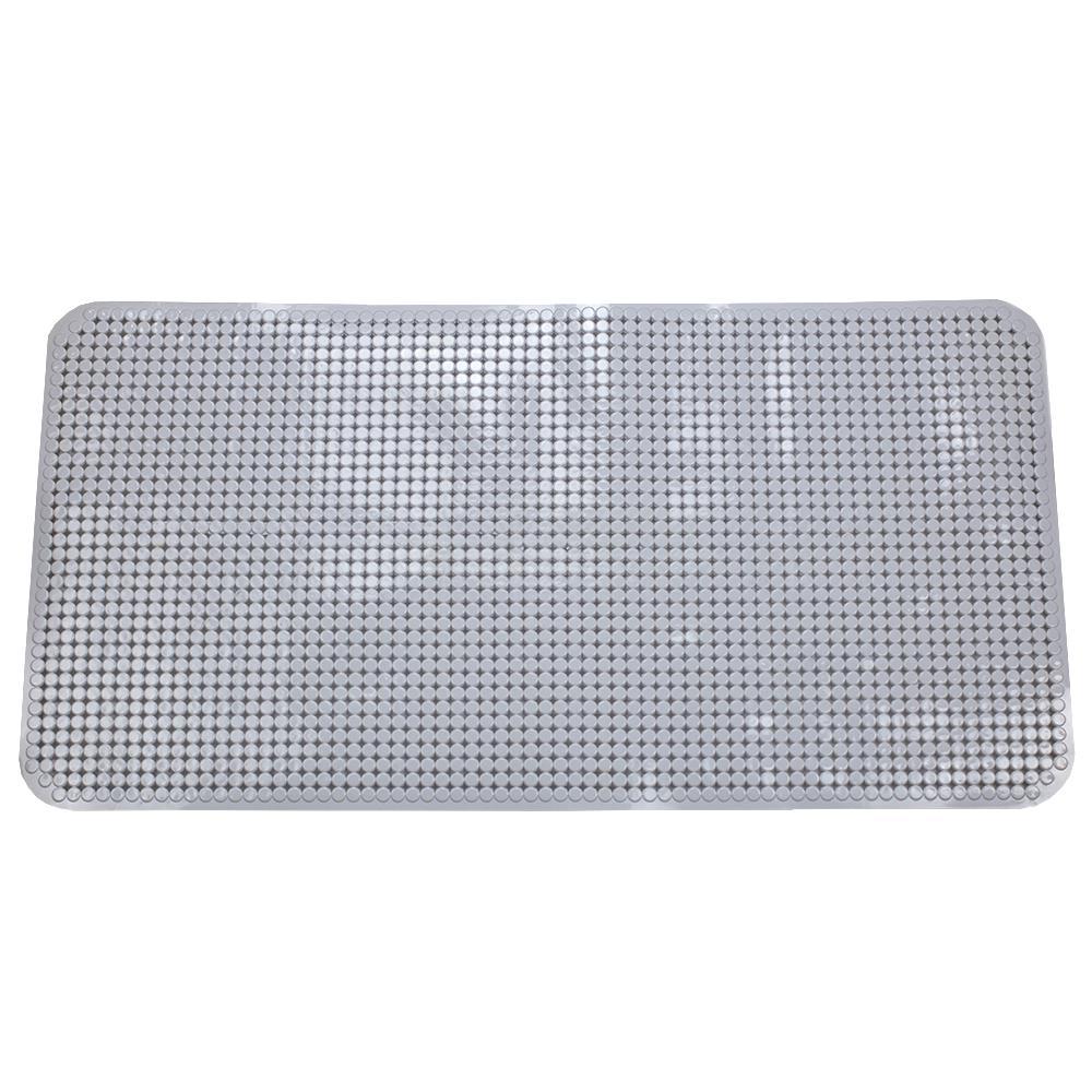 Anti-Slip Spa-Comfort Dotted Plastic Bath Mat Round Bath Mat
