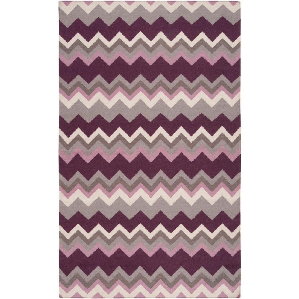 Joaquin Prune Purple 5 ft. x 8 ft. Flatweave Area Rug