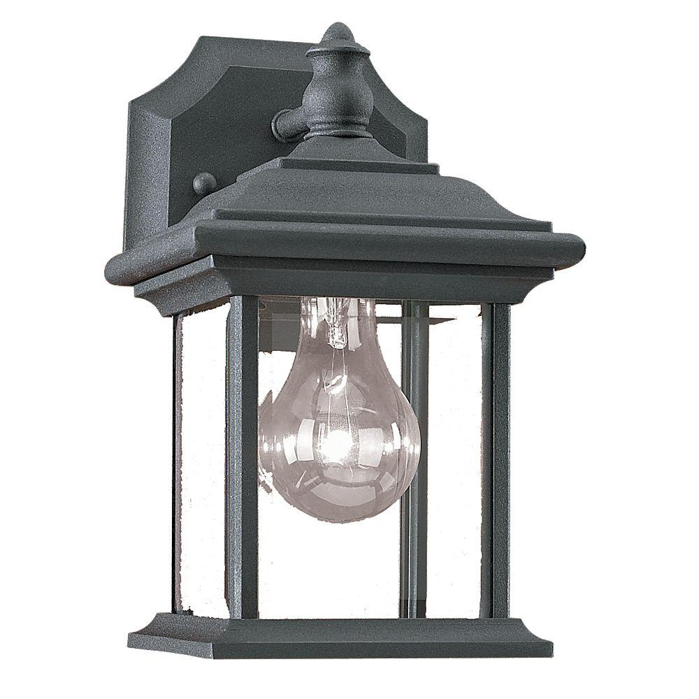 Sea Gull Lighting Wynfield 1 Light Outdoor Black Wall
