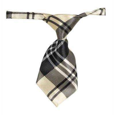 One-Size Yellow and Black Fashionable and Trendy Dog Neck Tie