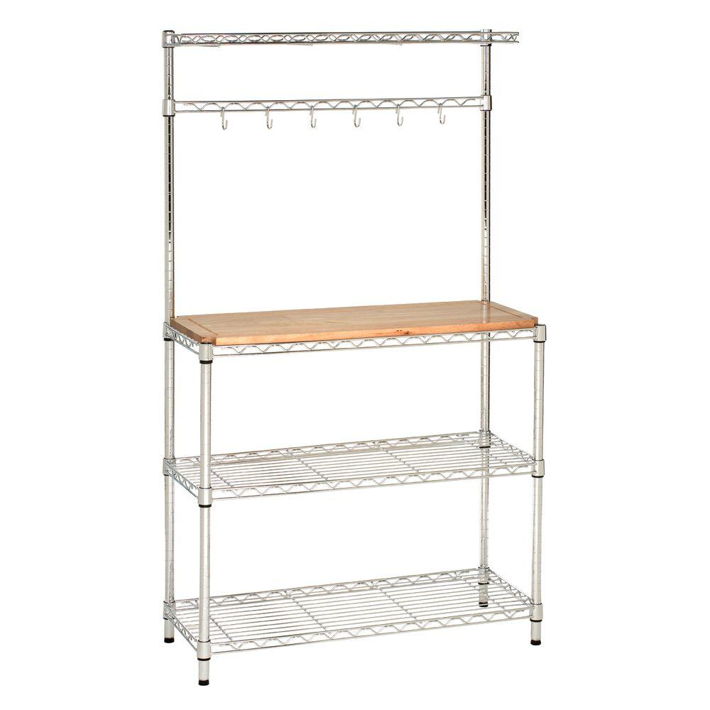 storage rack walnut display metal organizer shelves pd bakers tier with corner products stand kitchen black