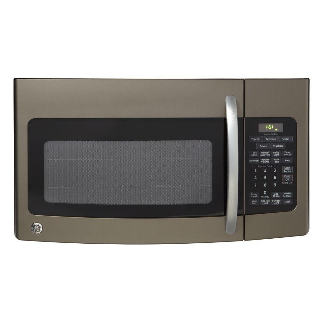 GE 1.7 cu. ft. Over the Range Microwave in Slate with Sensor Cooking-DISCONTINUED