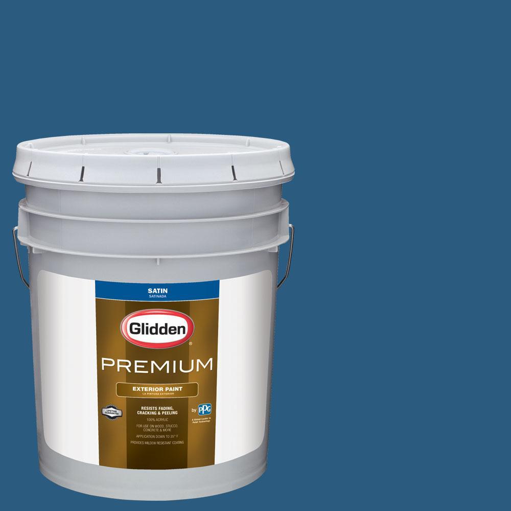 Glidden Premium 5 gal. #nba-138B Minnesota Timberwolves Blue Satin Exterior Paint