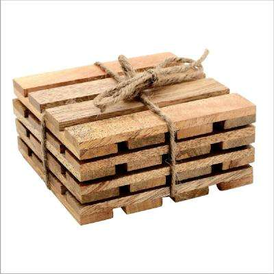 4-Piece Pallet Coaster Set