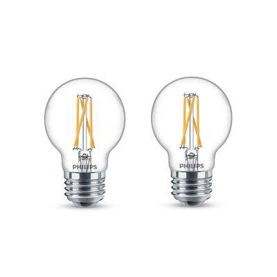 25-Watt Equivalent G16.5 Dimmable LED Light Bulb with Warm Glow Dimming Effect Soft White (2-Pack)