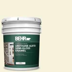Behr 5 Gal W B 310 Glow Urethane Alkyd Satin Enamel Interior Exterior Paint 790005 The Home Depot