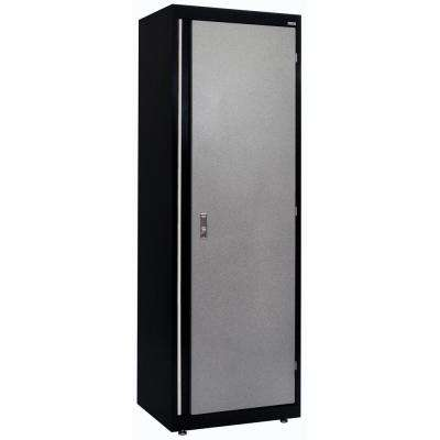 72 in. H x 18 in. D x 24 in. W Modular Single Door Wardrobe Cabinet Full Pull in Black/Multi-Granite