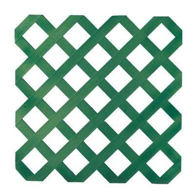 0.16 in. x 48 in. x 8 ft. Forest Green Garden Plastic Lattice