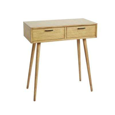 Olsen Natural Mid-Century 2-Drawer Console Table