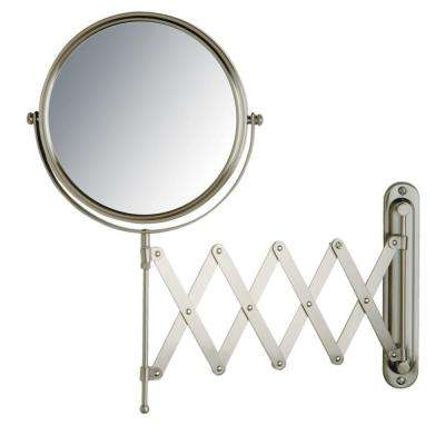 16 in. x 9 in. Wall Mount Mirror in Matte Nickel