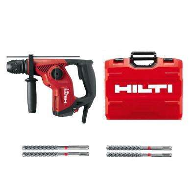 120-Volt SDS-Plus TE-7 Corded Rotary Hammer Drill Kit with 4 TE-CX Hammer Drill Bits