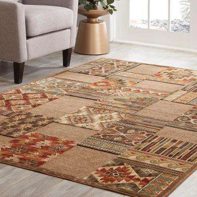 Napa Cimmaron Brown 7 ft. 10 in. x 11 ft. 2 in. Area Rug