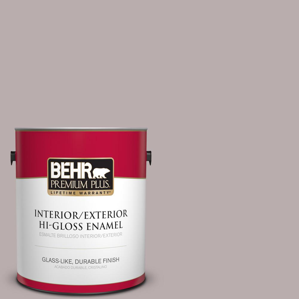 1 gal. #PPU17-11 Vintage Mauve Hi-Gloss Enamel Interior/Exterior Paint