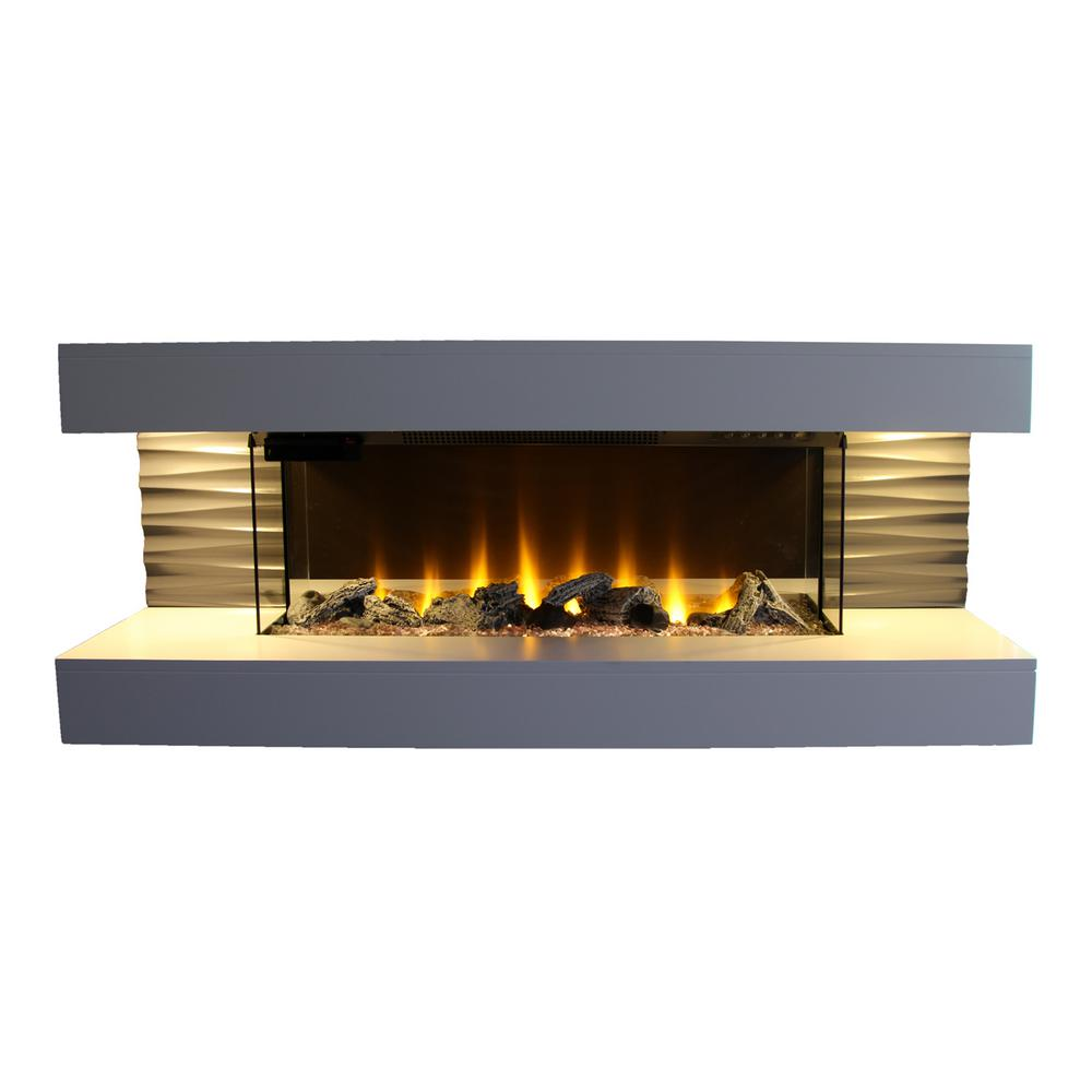 Lifesmart contemporary series 44 in wall mounted infrared - Going to bed with embers in fireplace ...