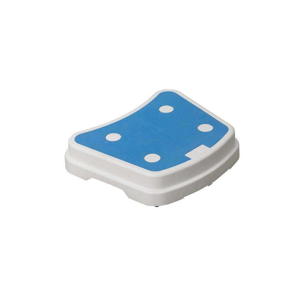 Drive 16 in. x 19.5 in. Portable Bath Step in Blue and White ...