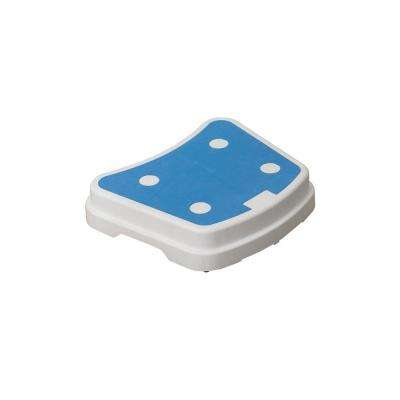 16 in. x 19.5 in. Portable Bath Step in Blue and White