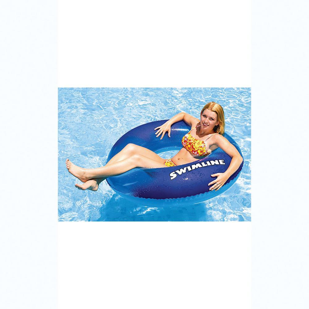 Swimline 48 in. Blue Printed Super Graphic Tube Pool Float