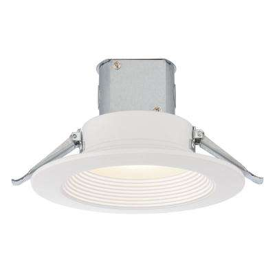 Easy-Up 6 in. White Baffle Recessed Integrated LED Kit at 93.5 CRI, 3000K, 859 Lumens