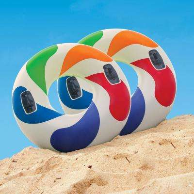 Color Whirl Tube Pool Float (2-Pack)