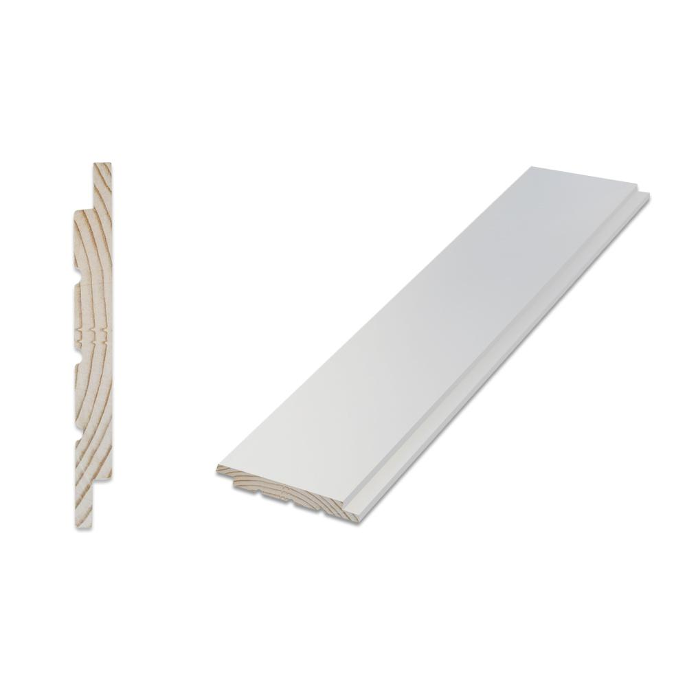 Arauco 9 16 In X 5 1 4 In X 8 Ft Primed Pine Nickel Gap Ship Lap Board 6 Pieces Per Box 0028994 The Home Depot