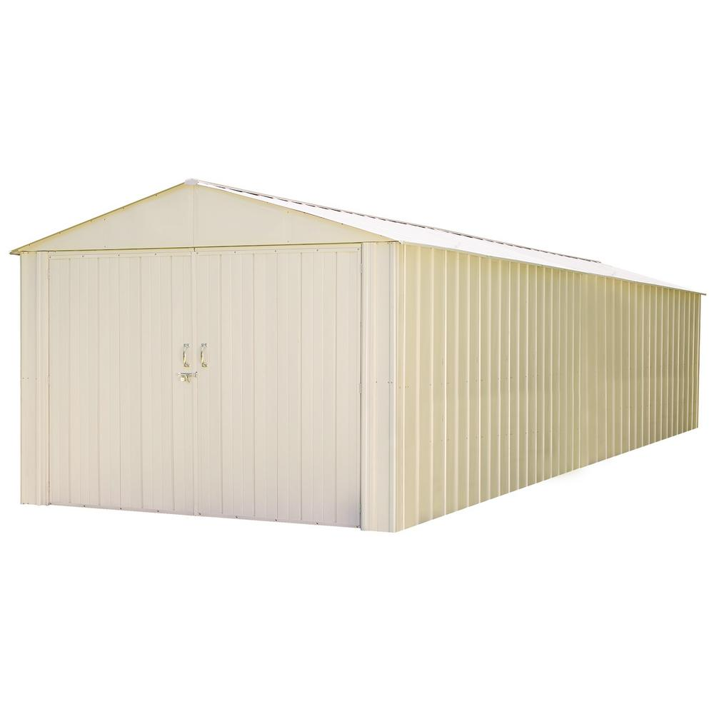 Arrow Commander 10 ft. W x 30 ft. D White Hot-Dipped Galvanized Metal Storage Shed