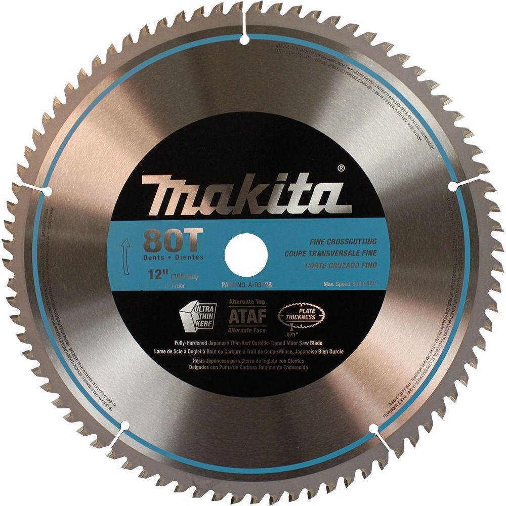 Makita 12 in. 80T Miter Saw Blade