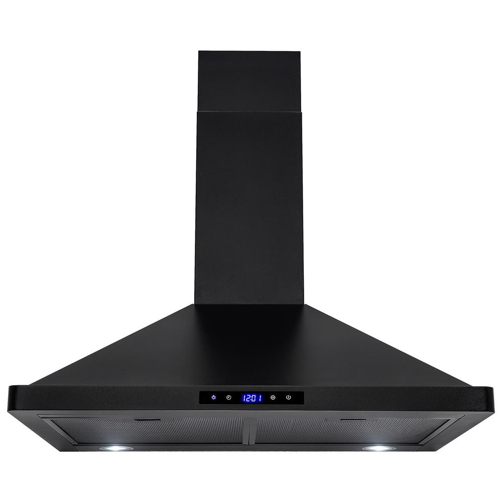 30 in. Convertible Kitchen Wall Mount Range Hood with Lights in