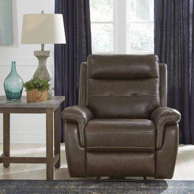 Lux Brown Leather Power Motion Recliner