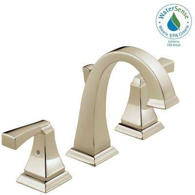 Dryden 8 in. Widespread 2-Handle High-Arc Bathroom Faucet with Metal Drain Assembly in Polished Nickel