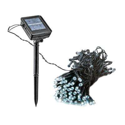 Solar Ed Integrated Led Blue Christmas Outdoor String Lights