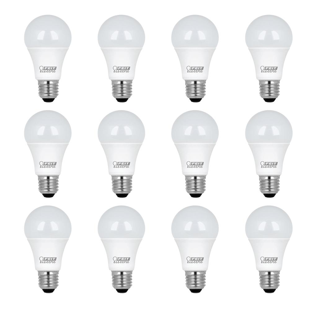Feit Electric 75W Equivalent Daylight (5000K) A19 LED Light Bulb (12-Pack)