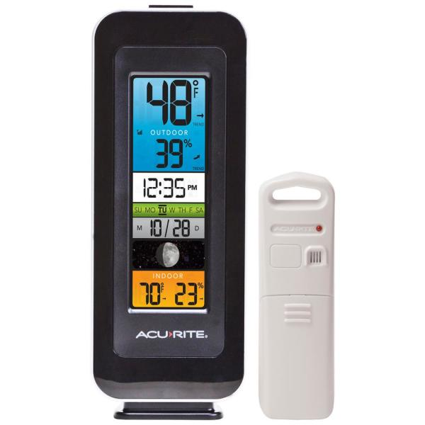 Acurite Digital Color Display Wireless Indoor Outdoor Thermometer 00384hd The Home Depot