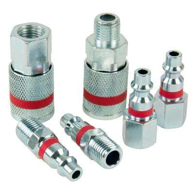 ColorMatch 1/4 in. I/M Coupler Plug Set (6-Piece)