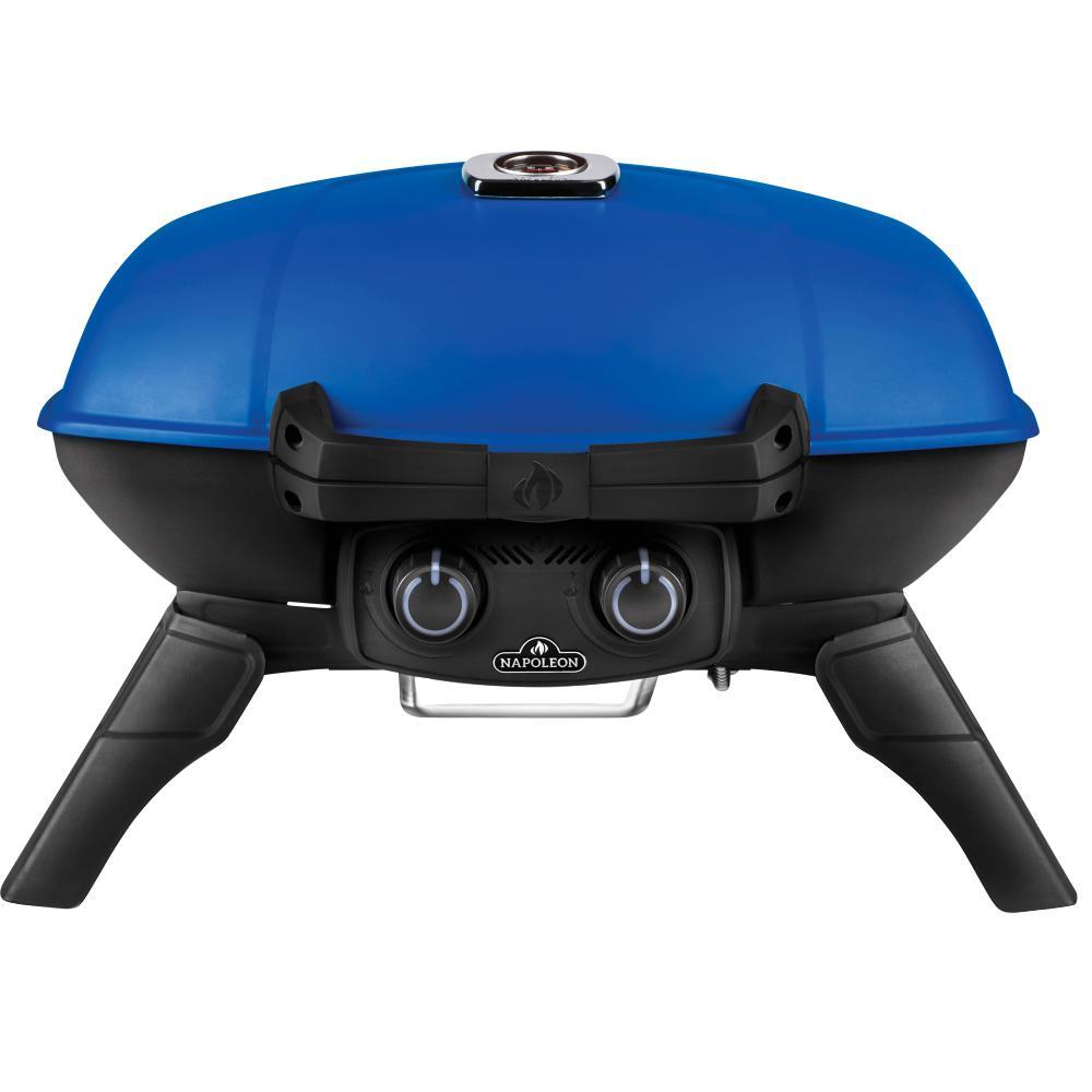 TravelQ 285 Portable Propane Gas Grill in Blue