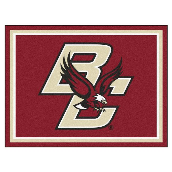 NCAA - Boston College Red 10 ft. x 8 ft. Indoor Rectangle Area Rug