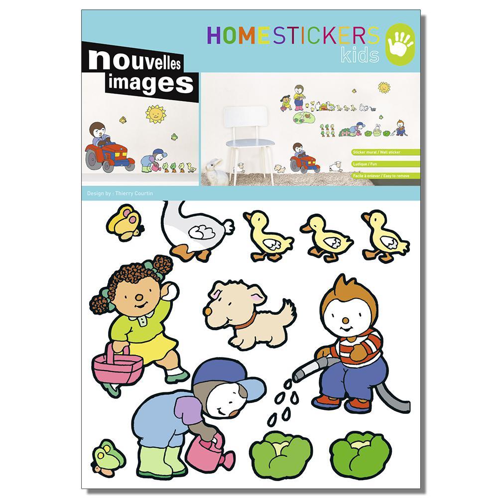 Multicolor T'choupi Home Sticker