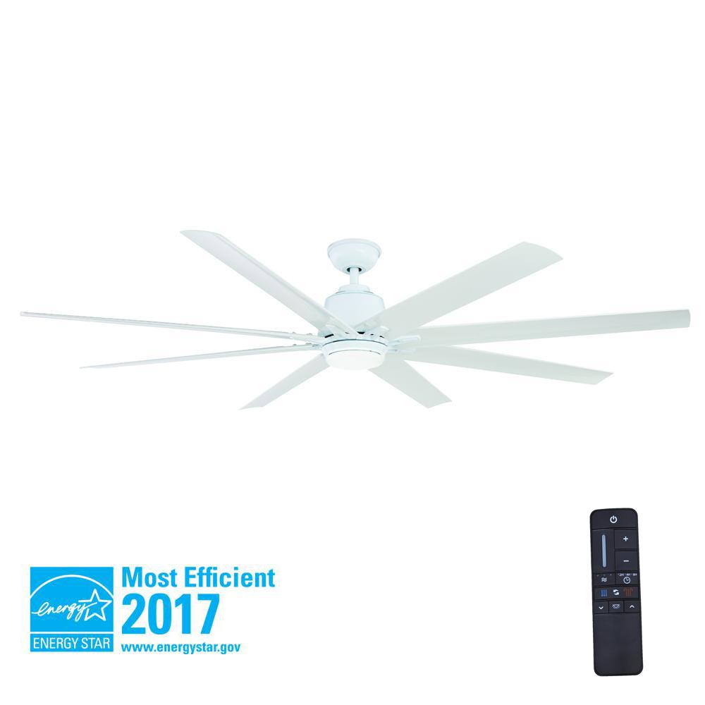 Home decorators collection petersford 52 in integrated led indoor led indooroutdoor white ceiling fan with light kit mozeypictures Gallery