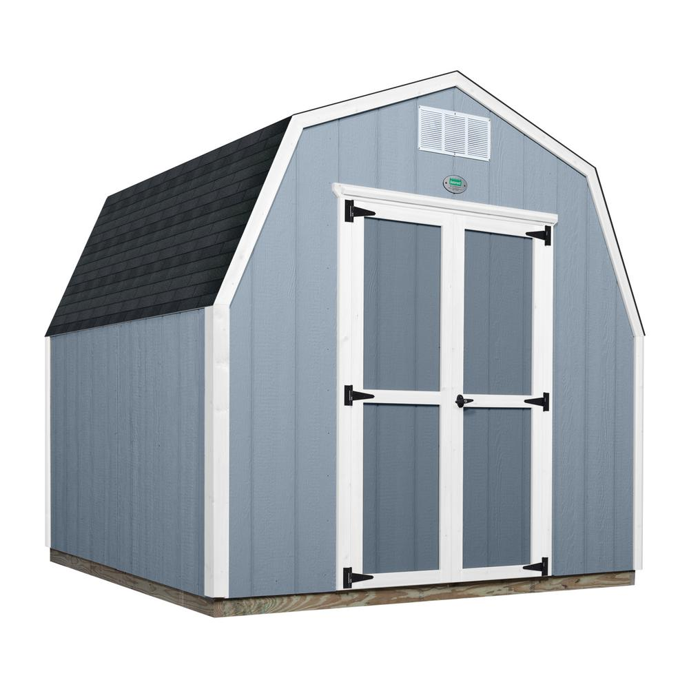 Backyard Discovery 8 Ft. X 8 Ft. Prefab Wooden Storage Shed With Floor  Decking