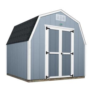 Click here to buy Backyard Discovery Backyard Discovery 8 ft. x 8 ft. Prefab Wooden Storage Shed with Floor Decking, Shingles and All... by Backyard Discovery.