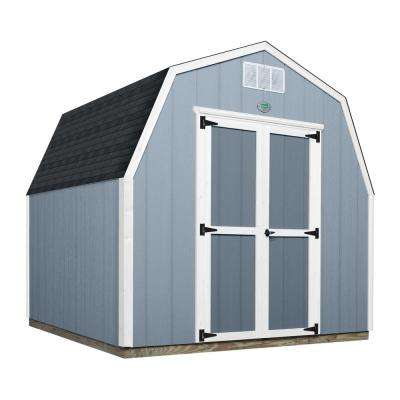 8 ft. x 8 ft. Prefab Wooden Storage Shed with Floor Decking, Shingles and All Hardware Included