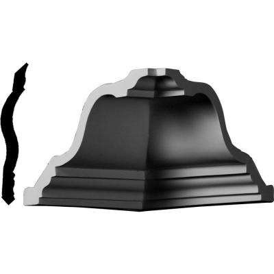 7-1/2 in. x 7-1/2 in. x 5 in. Polyurethane Crown Inside Corner Moulding
