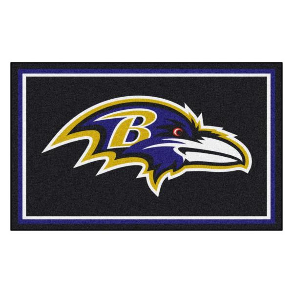 Baltimore Ravens 4 ft. x 6 ft. Area Rug
