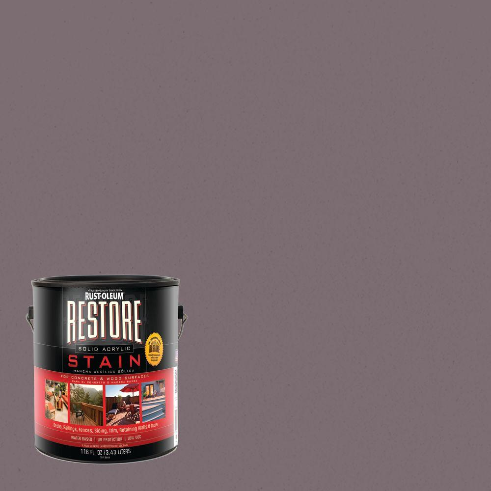 Rust-Oleum Restore 1 gal. Kensington Solid Acrylic Exterior Concrete and Wood Stain