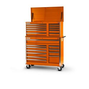 21drawer tool chest and cabinet combo orange
