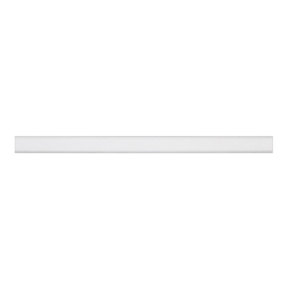Jeff Lewis Thassos White 0.75 in. x 12 in. x 13mm Polished Marble Dome Wall Tile Trim
