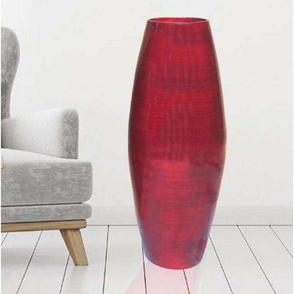 Uniquewise 27 5 In Red Tall Bamboo Decorative Floor Vase Qi003245r The Home Depot