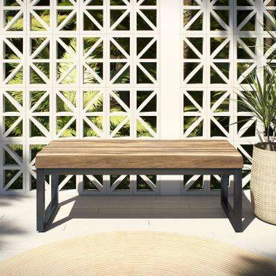 48 in. Clay Artificial Stone Outdoor Bench