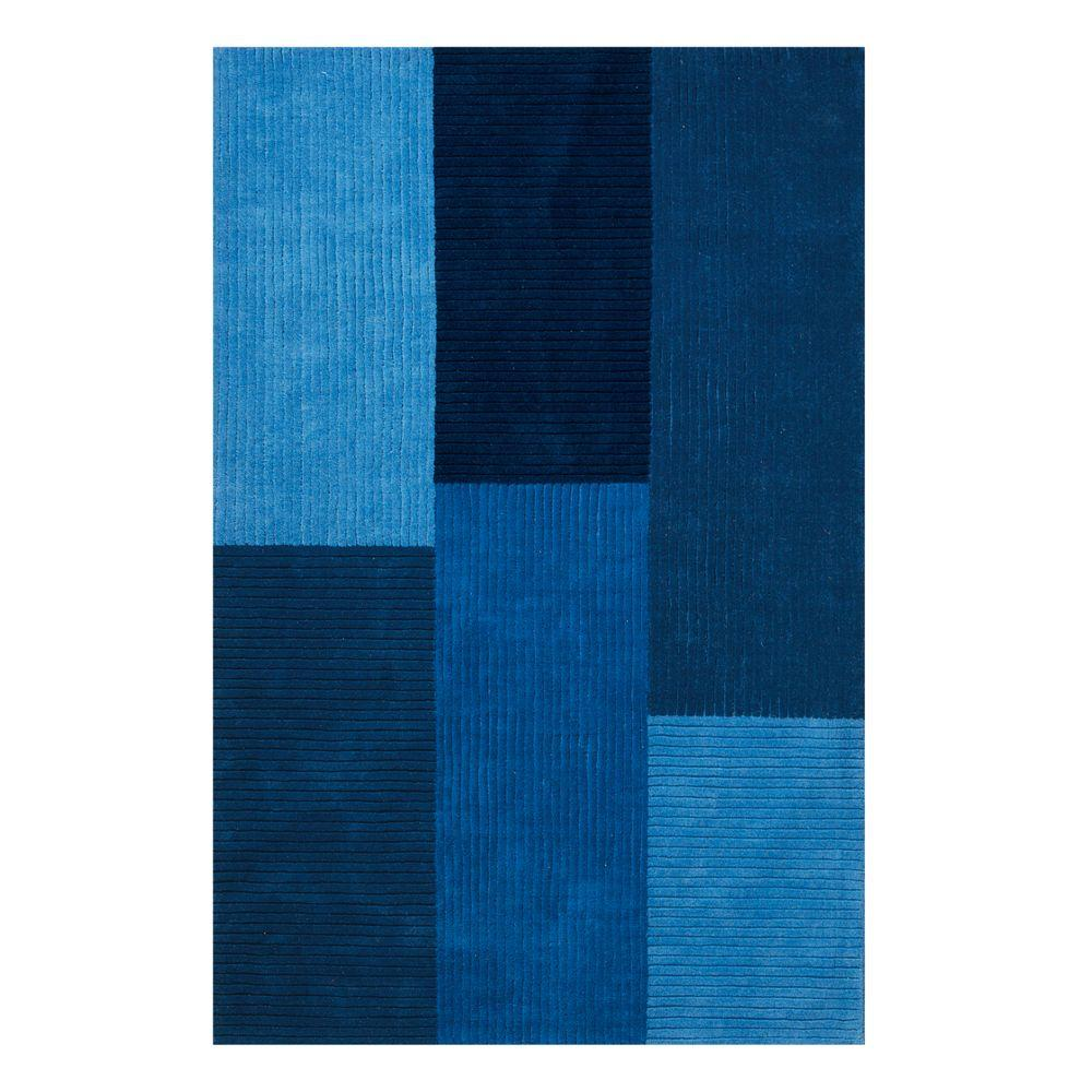Home Decorators Collection Crete Indigo 9 ft. 6 in. x 13 ft. 9 in. Area Rug