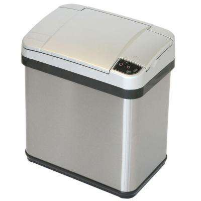 2.5 Gal. Stainless Steel Touchless Multifunction Sensor Trash Can with Deodorizing Carbon Filter Technology
